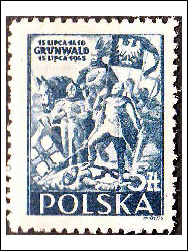 5 zł - 535. výročí bitvy u Grunwaldu 1410-1945 (1945)