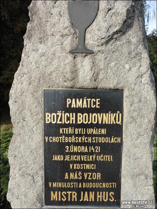 Chotěboř – husitský pomníček v ulici Hromádky z Jistebnice