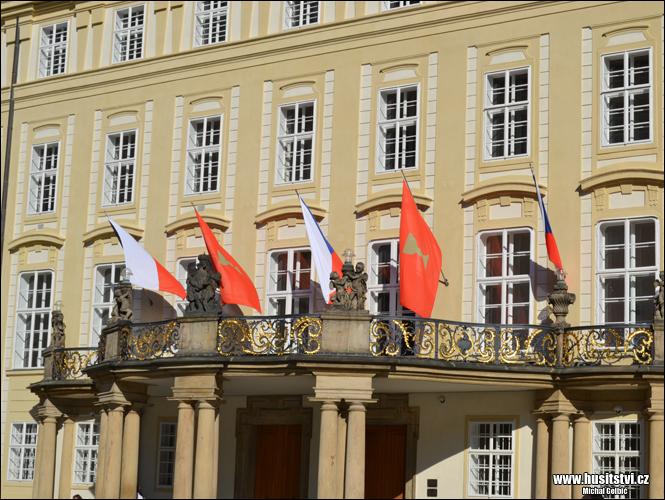 Husitské prapory na Pražském hradě (05.06.2015, Praha)