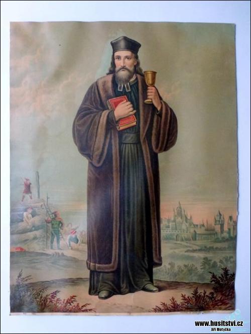 Jan Hus - starý obraz z počátku min. století, Německo