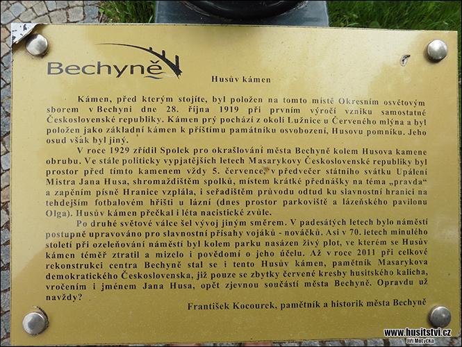 Bechyně - Husův kámen