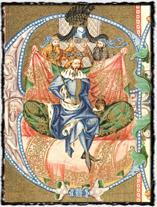 Římský a český král Václav IV. - Iluminace z Bible Václava IV. (sklonek 14. století).