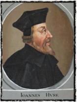 Jan Hus. Vyobrazení z kláštera Zlatá Koruna. copyright http://husitstvi.cz