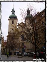 Praha - kostel sv. Havla. Místo kázání Konráda Waldhauser