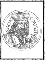 Jeroným Pražský dle vyobrazení z Kuthenovy kroniky (1539). copyright http://husitstvi.cz