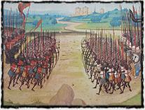 Bitva u Azincourtu (miniatura z 15. století)