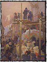 Jan Milíč z Kroměříže na Slovanské epopeji Alfonse Muchy