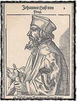 Rytina s vyobrazením Jana Husa ze sklonku 16. století