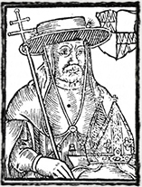 Olomoucký biskup Jan Železný (portrét z Paprockého Zrcadla slavného markrabství moravského, 1593)