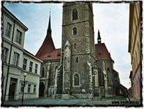 Kostel sv. Petra a Pavla v Čáslavi, místo konání památného husitského sněmu v roce 1421