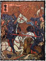 Boj husitů s křižáky (Jenský kodex, iluminace 15. století)