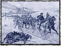 Útěk krále Zikmunda z Kutné hory (obraz Huga Schüllingera)
