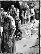 Smrt Jana Žižky z Trocnova (kresba Jan Goth)
