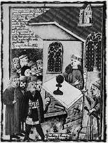 Přijímání pod obojí způsobou (iluminace z 15. století)