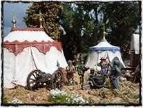 Model husitského vojenského tábora