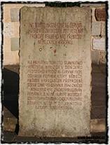 Detail pamětní desky z památníku bitvy u Ústí nad Labem