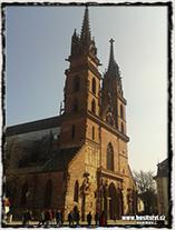 Basilej - gotická katedrála Münster, kde zasedal koncil