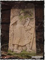 Pamětní deska Jana Roháče z Dubé na hradě Sionu