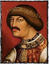 Albrecht II. Habsburský, český král v letech 1438 - 1439 (obraz neznámého mistra pochází ze 16. st.)
