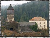 Hrad Pirkštejn v Ratajích nad Sázavou, sídlo Hynce Ptáčka.