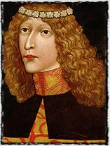 Ladislav Pohrobek na anonymním portrétu z roku 1457.