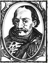 Jan Hunyady, uherský gubernátor, otec Matyáše Korvína a urputný protivník bratříků v Horních Uhrách na anonymním díle.