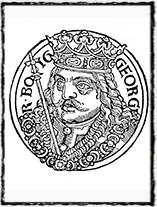 Vyobrazení Jiříka z Poděbrad v díle Kronika o založení země české a prvních obyvatelích jejích (1539).