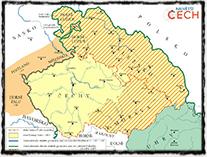 Země koruny české za vlády Jiříka z Poděbrad (zdroj: ČT, anketa Největší Čech).