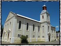 Kostel Jednoty bratrské v Genadendalu v Jihoafrické republice.