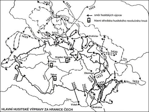 Hlavní husitské výpravy za hranice Čech