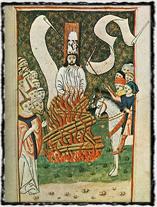 Upálení mistra Jana Husa dle Jenského kodexu