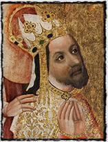Císař a král Karel IV. na votivním obraze Jana Očka z Vlašimi.