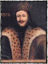 Uherský král Ludvík I. z  Anjou (soudobé vyobrazení).