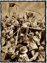 Boj u vozové hradby (copyright Wikipedie)