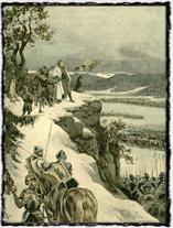 Jiří z Poděbrad nad obklíčenými Korvínovými vojsky u Vilémova
