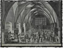 Vladislavský sál Pražského hradu na počátku 17. stol. (copyright Wikipedie)