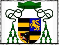 Arcibiskupský znak Zbyňka Zajíce z Hazmburka (zdroj: Wikipedie)