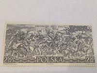 ZNÁMKA (PL) 550. výročí Bitvy u Grunwaldu 2,5 zl
