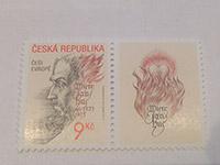 ZNÁMKA (CZ) Mistr Jan Hus - Češi Evropě (2002)