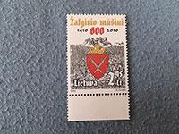 ZNÁMKA (LT) 600 let Grunwaldské bitvy (2010)
