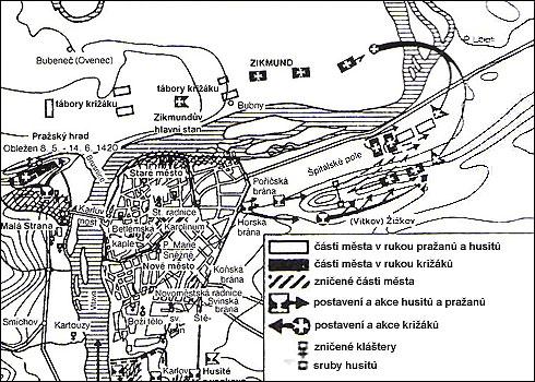I. křížová výprava - bitva na Vítkově hoře (14.07.1420)