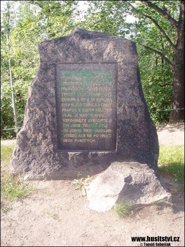 Praha (Žižkov) – deska na paměť vítězství na Vítkově hoře