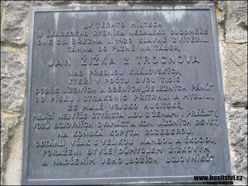 Markovec (rybník) s památníkem Jana Žižky