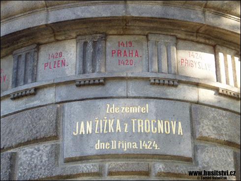 Přibyslav – mohyla připomínající úmrtí Jana Žižky