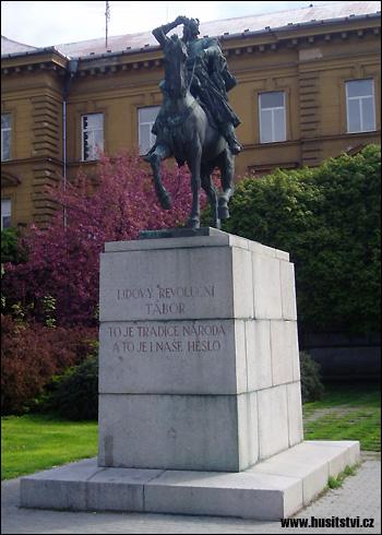 České Budějovice – socha Jana Žižky