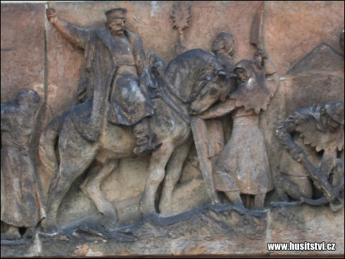 Praha – reliéfy husitských bojovníků v letohrádku Hvězda na Bílé Hoře