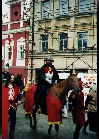 Táborské slavnosti, průvod Jana Žižky (Tábor, 1997)