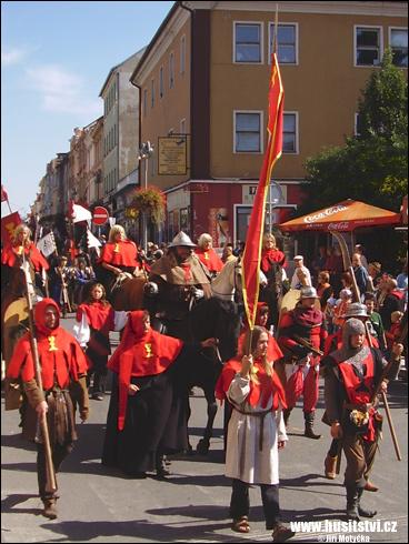 Táborské slavnosti, průvod Jana Žižky (Tábor, 2008)