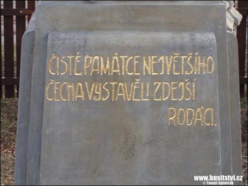 Horní Kněžeklady – památník Jana Husa