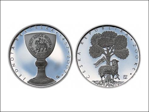 200 Kč – 550. výročí založení Jednoty bratrské (2007)